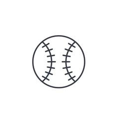 baseball ball thin line icon linear symbol vector image vector image