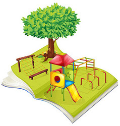 Book of playground in the park vector