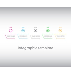 Infographic template simple timeline with icons vector image vector image