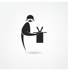 Magician icon vector