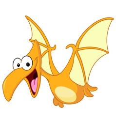 pterodactyl dinosaur vector image vector image