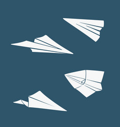 set of symbols paper airplane vector image vector image
