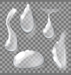 set of transparent realistic pure clear water vector image