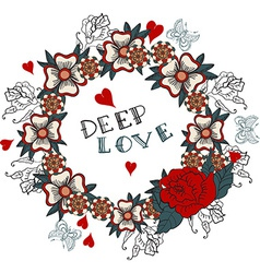 Deep love floral design vector image vector image