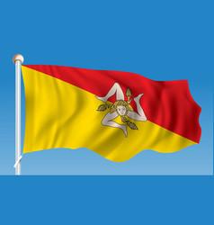 Flag of sicily vector