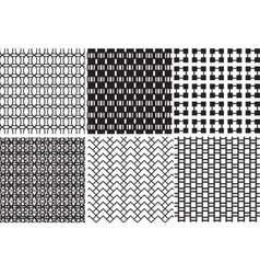 geometric black and white textures vector image vector image