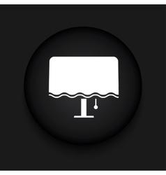 modern night lamp black circle icon vector image
