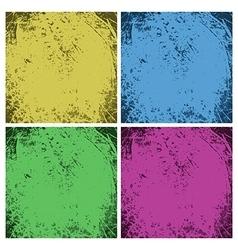 Set of dirty vintage grunge backgrounds vector image