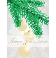 Christmas grey background with evening balls vector image vector image