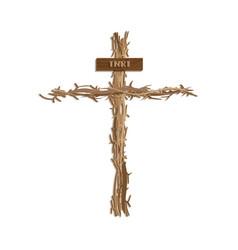jesus cross vector image