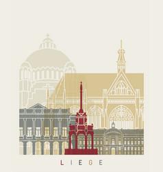 liege skyline poster vector image vector image