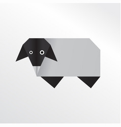origami sheep vector image vector image