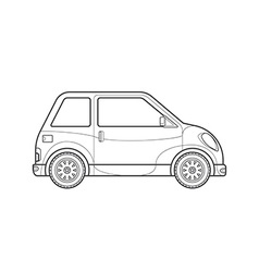 outline compact city car body style icon vector image vector image