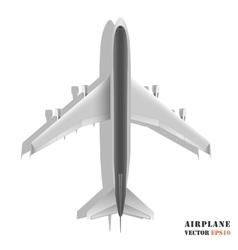 Passenger airplane isolated on white background vector image vector image