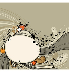abstract music retro vector image vector image