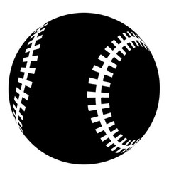 baseball icon simple black style vector image vector image