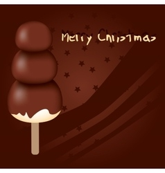 Chocolate christmas vector
