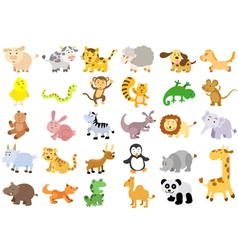 Extra large set of animals vector image vector image
