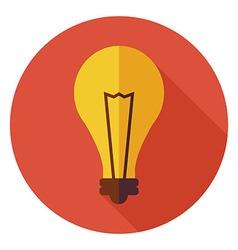 Flat Education and Science Idea Lamp Light Bulb vector image