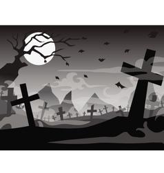 halloween tomb background vector image