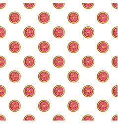 pink glazed donut pattern vector image vector image