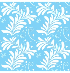 winter ornamental floral seamless pattern light bl vector image vector image