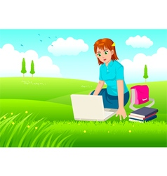 Working With Relax vector image vector image