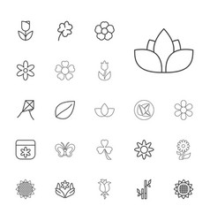 22 floral icons vector