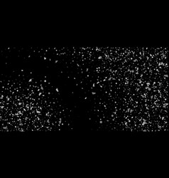 a glitter of silver particles on a black vector image