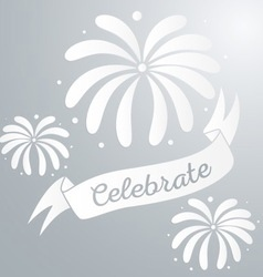 Abstract starry fireworks vector image