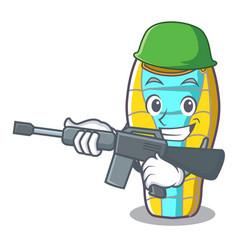 army sleeping bad character cartoon vector image