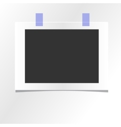 Blank photo frame template design mockup vector