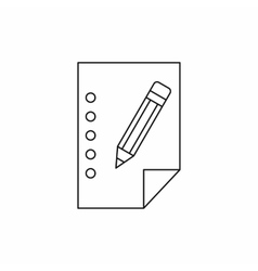 Blank sheet of paper and a pencil icon vector