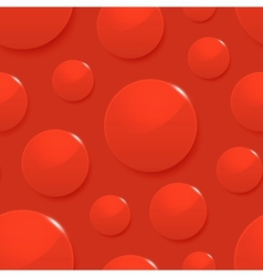Blood drops on red seamless background vector image