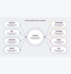 business infographic organization chart with 8 vector image