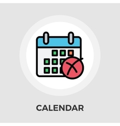 Calendar with cross vector