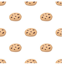 chocolate chip cookies icon in cartoon style vector image