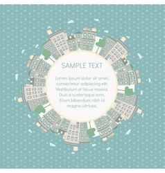 Circle cityscape frame background vector
