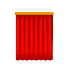 Classical red stage curtains from velvet or velour vector