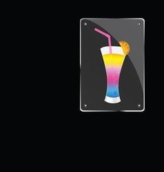 cocktail on glass vector image