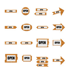 collection of different shaped open notice boards vector image