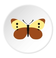 Colorful butterfly icon flat style vector