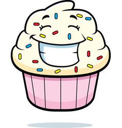 Cupcake smiling vector