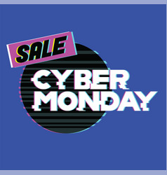 cyber monday sale and discount in web shop and vector image