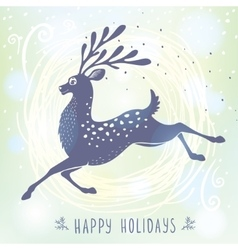 Deer stylized Christmas vector image
