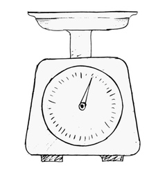 Domestic weigh-scales vector