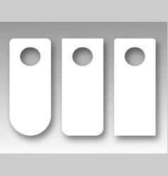 door hanger mockup set vector image