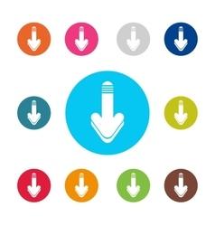 Download icon set Arrow down vector image