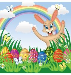Easter congratulatory background vector