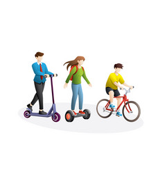 eco friendly transportation vector image